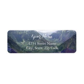 Étiquettes de adresse cachés d'Hawaï