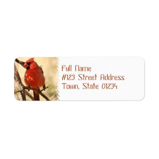 Étiquettes de adresse cardinaux rouges