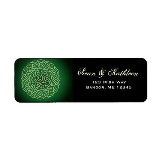 Étiquettes de adresse celtiques irlandais de noeud