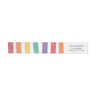 Étiquettes de adresse colorés de fête