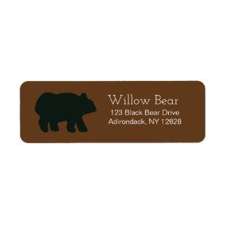Étiquettes de adresse customisés par ours rustique étiquette d'adresse retour