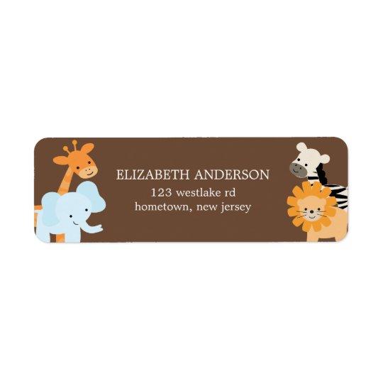 Étiquettes de adresse d'amis de safari