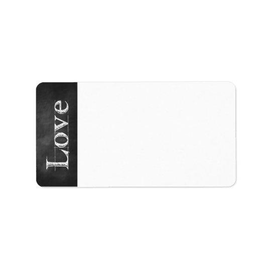 Étiquettes de adresse d'amour de tableau
