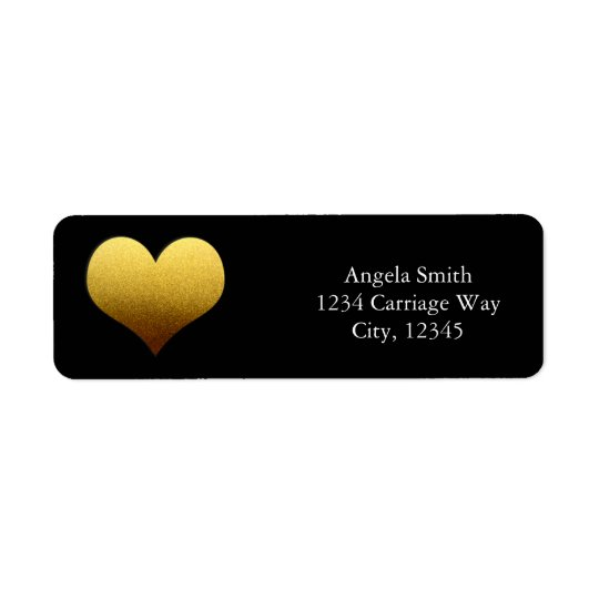 Étiquettes de adresse d'autocollant de coeur de