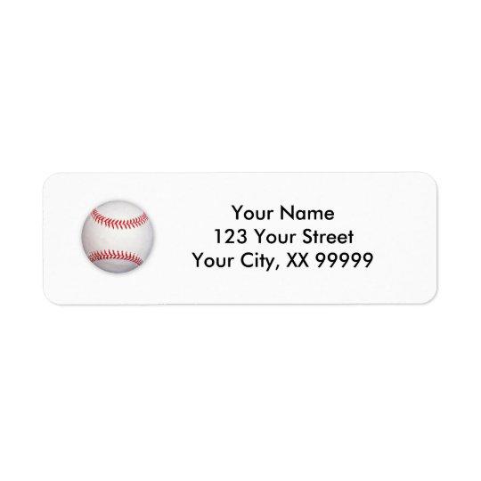 Étiquettes de adresse de base-ball