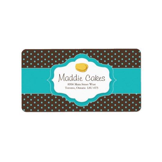 Étiquettes de adresse de biscuits de Madeleine