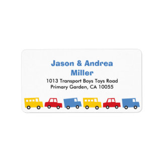 Étiquettes de adresse de camion d'autobus de