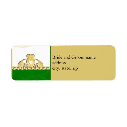 Étiquettes de adresse de Claddaugh d'Irlandais