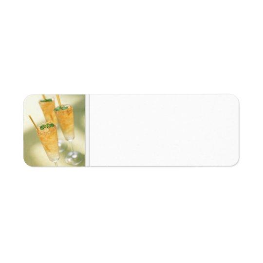 Étiquettes de adresse de cocktails de Kentucky Der