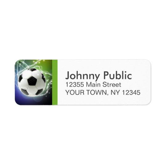 Étiquettes de adresse de coutume du football