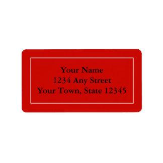 Étiquettes de adresse de expédition rouges avec