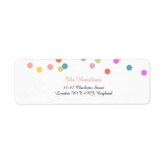 Étiquettes de adresse de fête de retour de mariage
