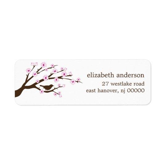 Étiquettes de adresse de fleurs de cerisier