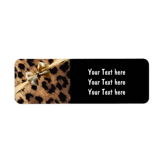 Étiquettes de adresse de guépard de léopard d'arc