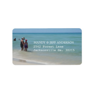 Étiquettes de adresse de jours de plage
