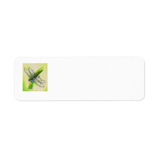 Étiquettes de adresse de libellule