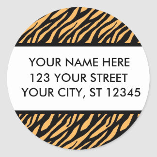 Étiquettes de adresse de motif de tigre