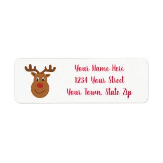 Étiquettes de adresse de Noël de renne
