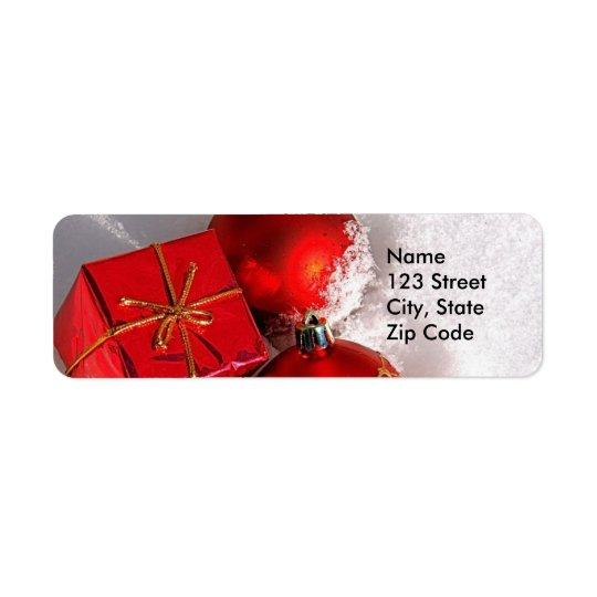 Étiquettes de adresse de Noël ou étiquettes de ret
