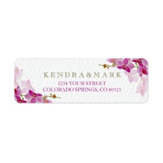 Étiquettes de adresse de paradis d'orchidée