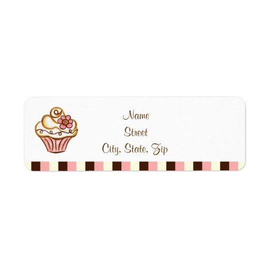 Étiquettes de adresse de petit gâteau
