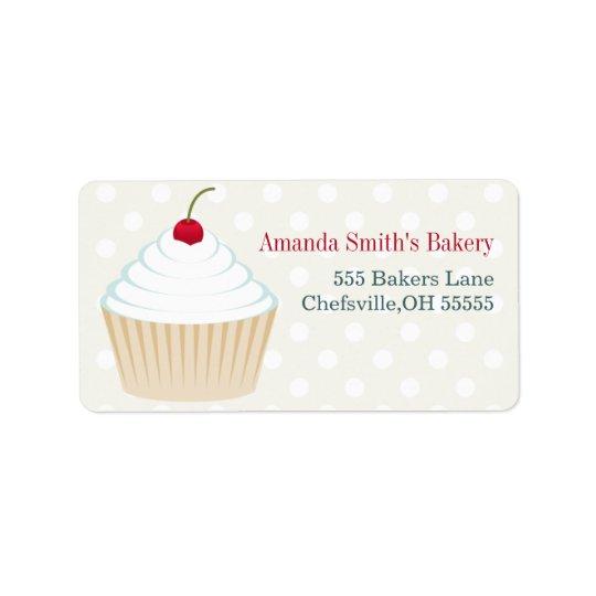 Étiquettes de adresse de petit gâteau givrés par b