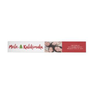 Étiquettes de adresse de photo de Noël de Mele
