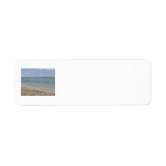 Étiquettes de adresse de plage