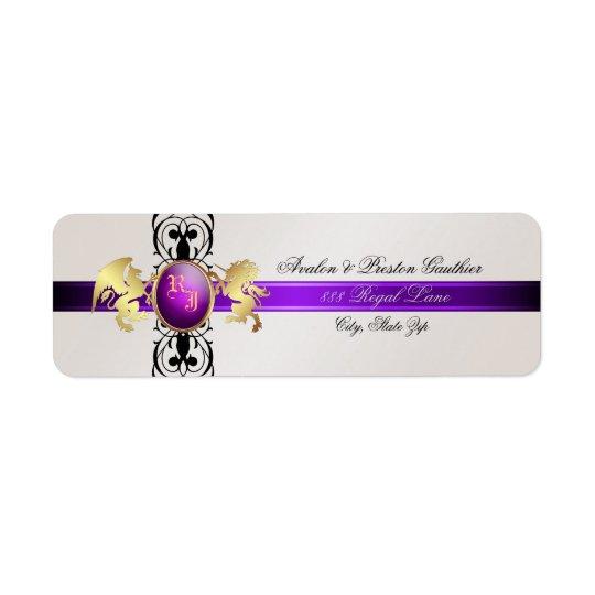 Étiquettes de adresse de prince et de princesse