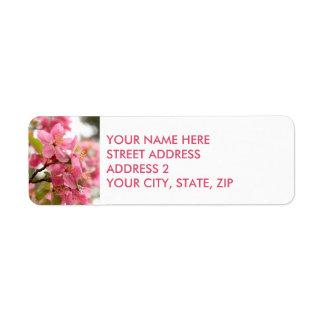 Étiquettes de adresse de Quatre-Line de fleurs