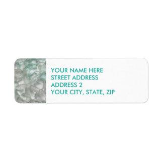 Étiquettes de adresse de Quatre-Line en verre et