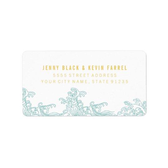 Étiquettes de adresse de ressacs - bleu et or