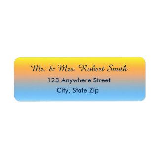 Étiquettes de adresse de retour avec des couleurs