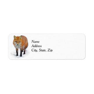 Étiquettes de adresse de retour avec l'art de Fox