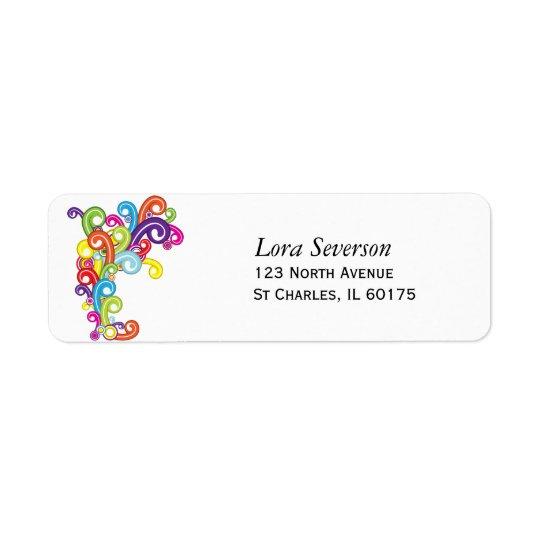 Étiquettes de adresse de retour colorés