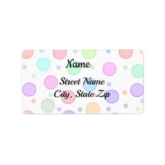Étiquettes de adresse de retour colorés mignons