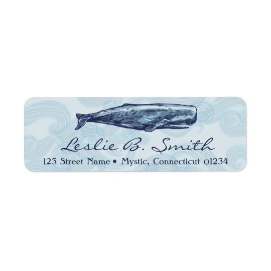 Étiquettes de adresse de retour de baleine