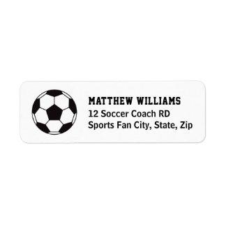 Étiquettes de adresse de retour de ballon de