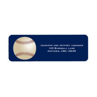 Étiquettes de adresse de retour de base-ball sur