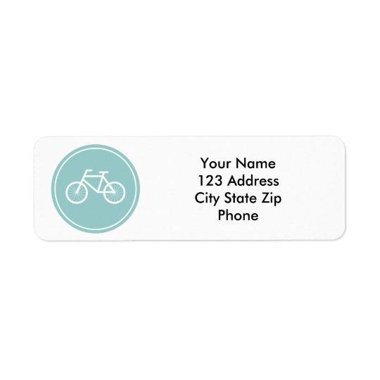 Étiquettes de adresse de retour de bicyclette pour