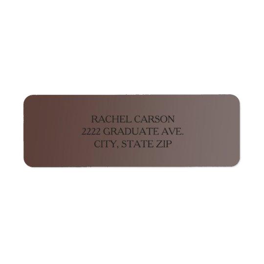 Étiquettes de adresse de retour de Brown Ombre