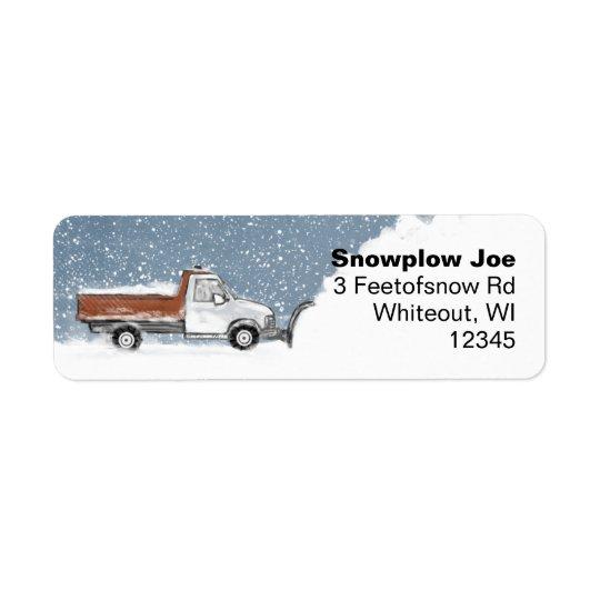 Étiquettes de adresse de retour de chasse-neige