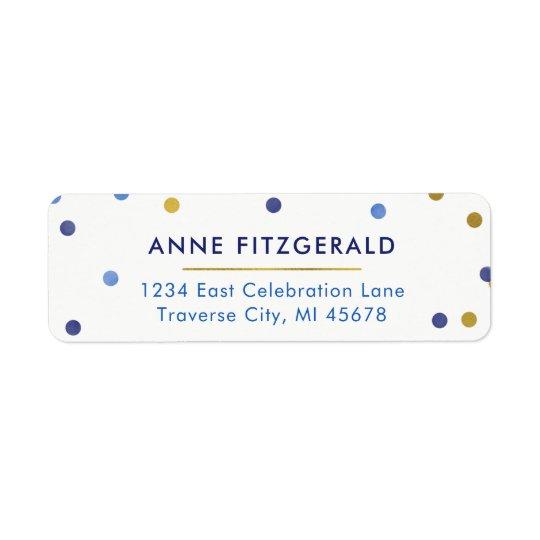 Étiquettes de adresse de retour de confettis de
