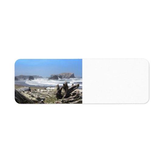 Étiquettes de adresse de retour de côte de Bandon