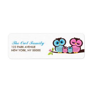 Étiquettes de adresse de retour de famille de