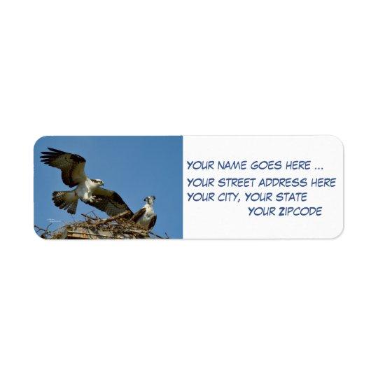 Étiquettes de adresse de retour de faucons d'Ospre
