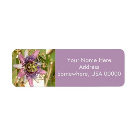 Étiquettes de adresse de retour de fleur de