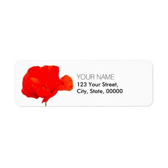 Étiquettes de adresse de retour de la collection