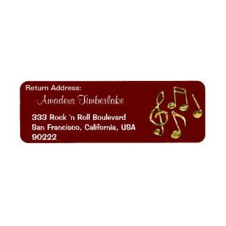 Étiquettes de adresse de retour de mélomanes de