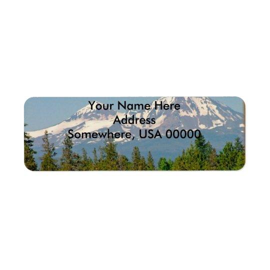 Étiquettes de adresse de retour de montagne
